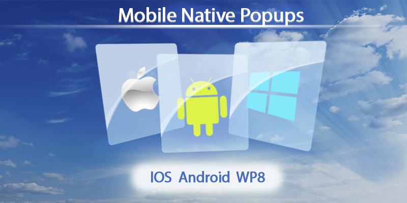 Mobile Native PopUps