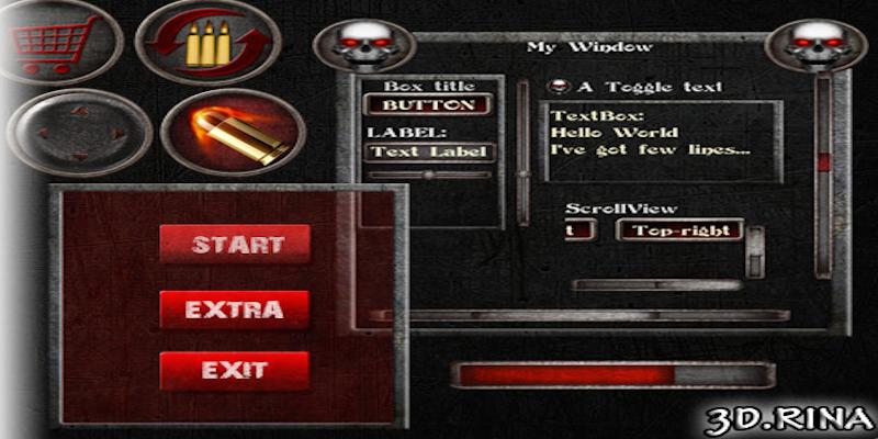 Black Metal GUI skin