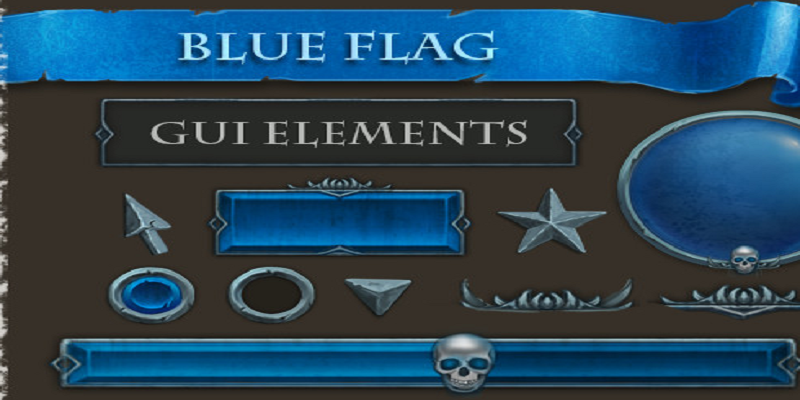 Blue Flag GUI Elements