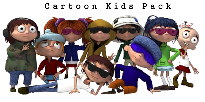 Cartoon Kids Pack