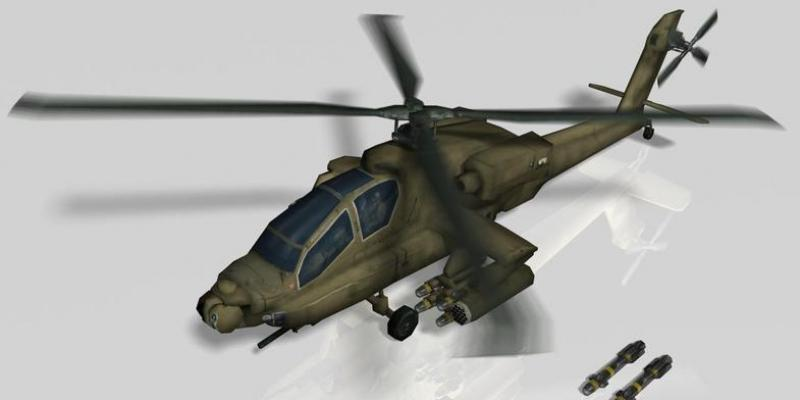 Military Attack Helicopter & Hellfire missile