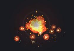 Cartoon Particles Set