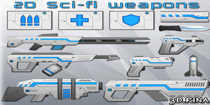 2D Sci-Fi Weapons Pack