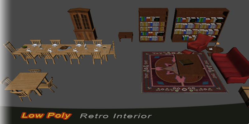 Low Poly Retro Interior