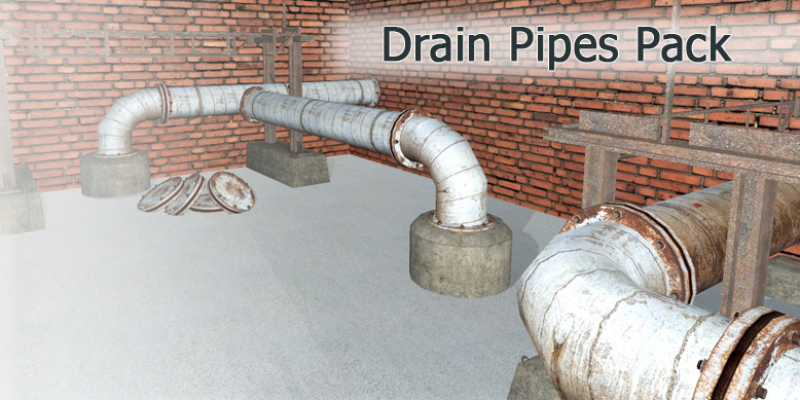 Industrial DrainPipes Pack