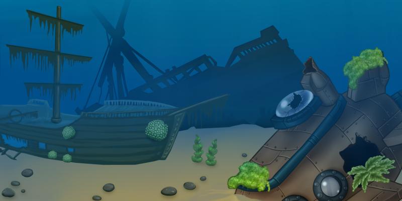 Sea 2D backgrounds Set