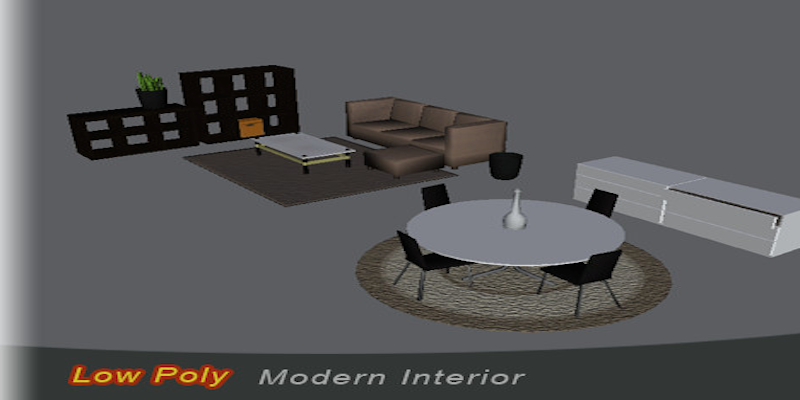Low Poly Modern Interior