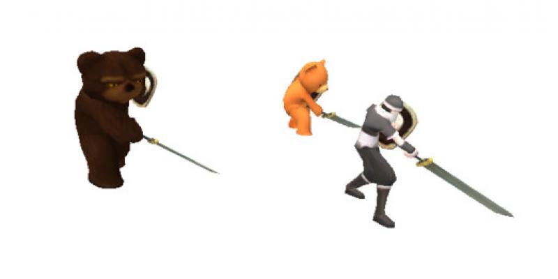 Mecanim Gladiator Anim Collection 1