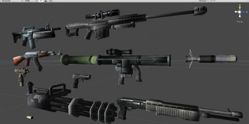Low Poly Gun Pack