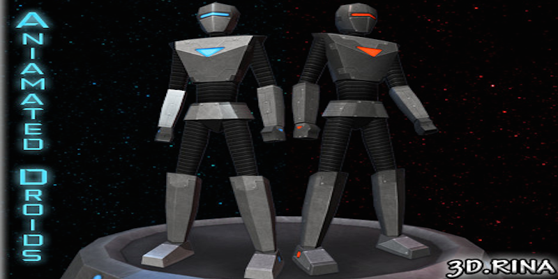 Low-poly Animated Droids