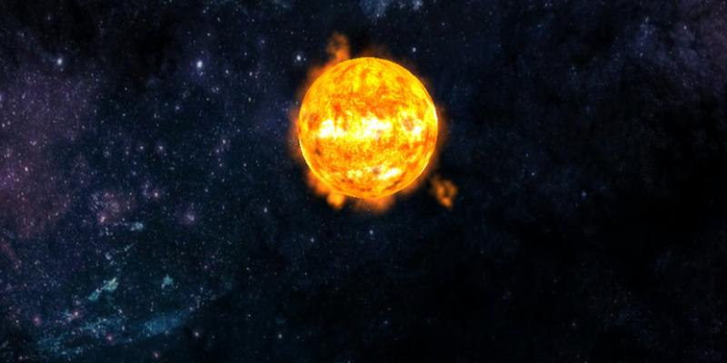 Realistic Animated Sun Prefab