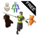 Mecanim Warrior Anim Free