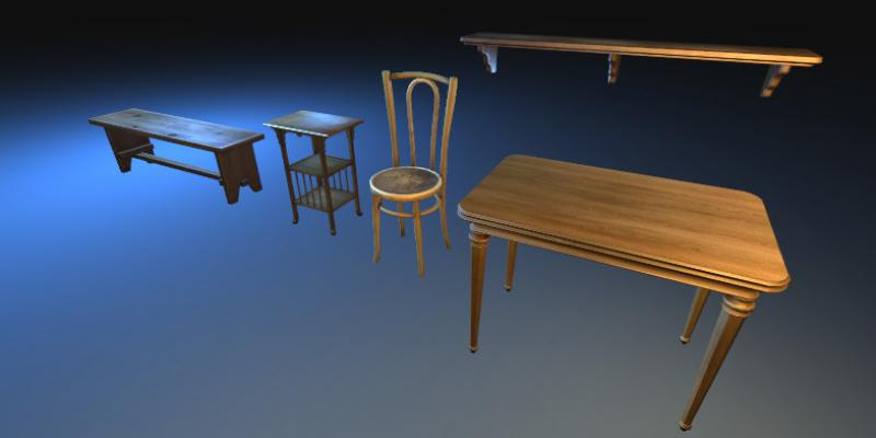 Wooden Furniture Pack