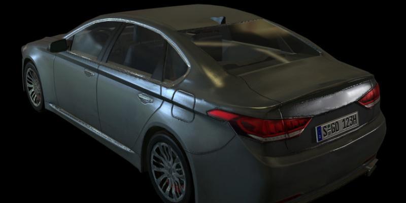 Grey Luxury Sedan