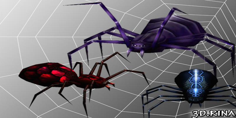 Animated Spiders Pack