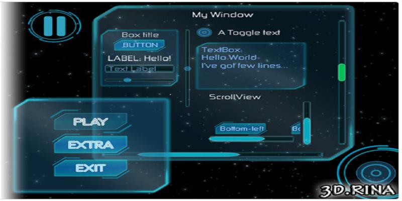 Sci-fi GUI skin