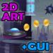 2D Sci-Fi Game Art