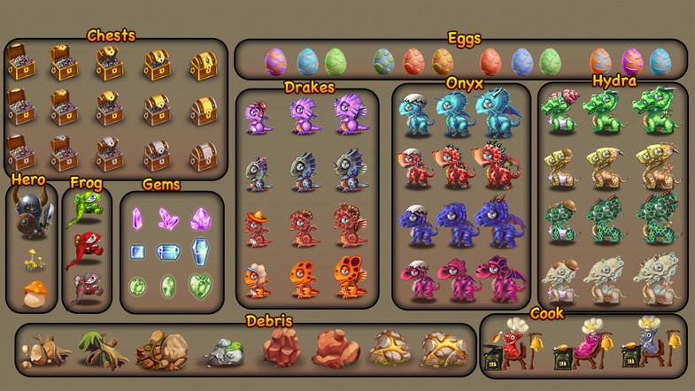 Dragon Game Pack 2D - vol 2 | Union Assets - Dev Assets Marketplace