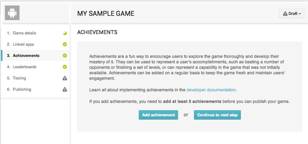 sample of achievements